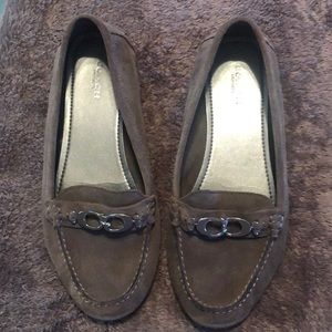 Gray Coach loafers